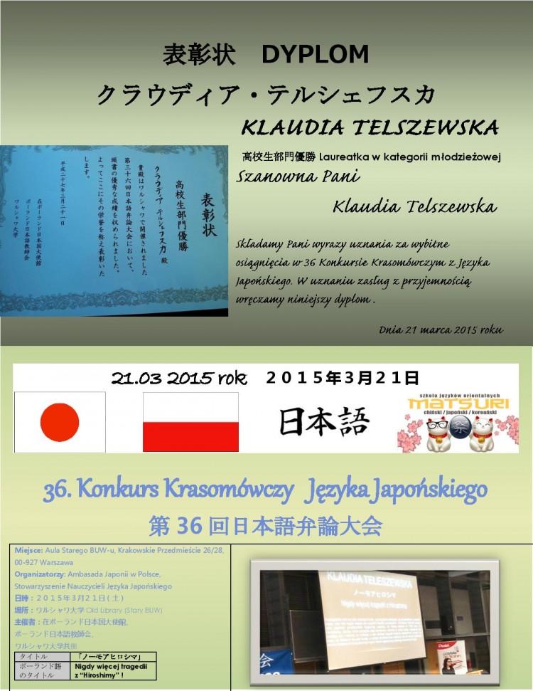 Klaudia Telszewska - Laureatka konkursu -page-001