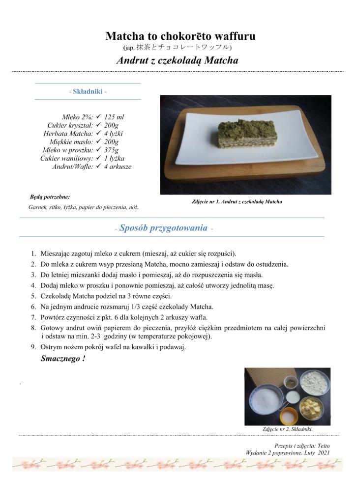 Przepis na andrut z czekoladą Matcha